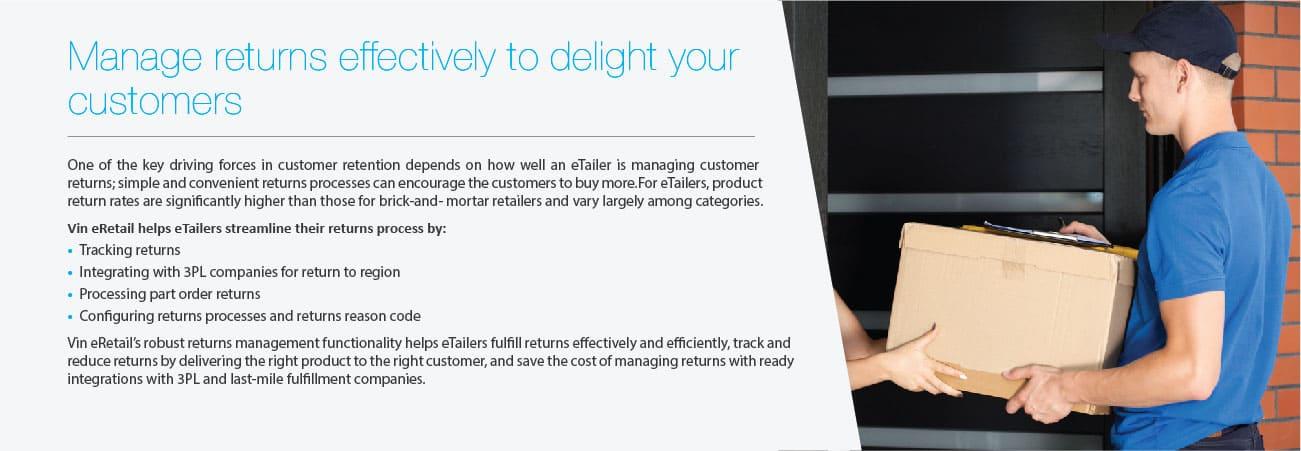 Manage Returns eTailers