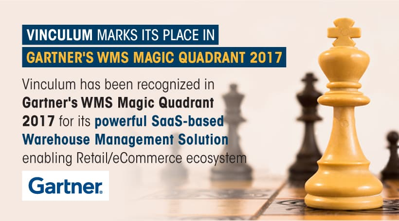 Vinculum featured in Gartner's 2017 Magic Quadrant – One more reason to trust us as your enabler for MultiChannel growth