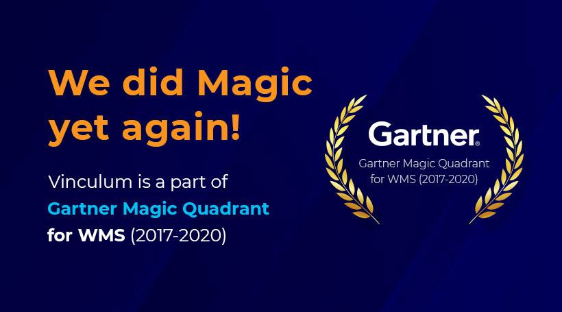Vinculum Featured in Gartner Magic Quadrant for WMS